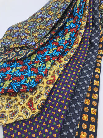 Cavenagh of London 7Piece 100% Pure Silk Ties Made in UK (515D)RRP£139.99 Thumbnail 2