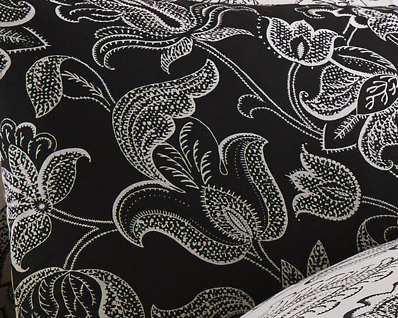 Cary Cotton Rich Floral Design Duvet Set and Bedding Range in Black Thumbnail 2