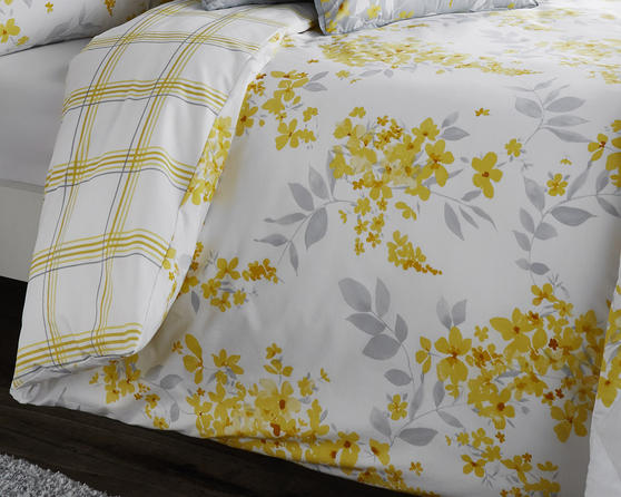 Cotton Rich Sophia Collection Design Duvet Set and Bedding Range in Lemon Yellow Thumbnail 2