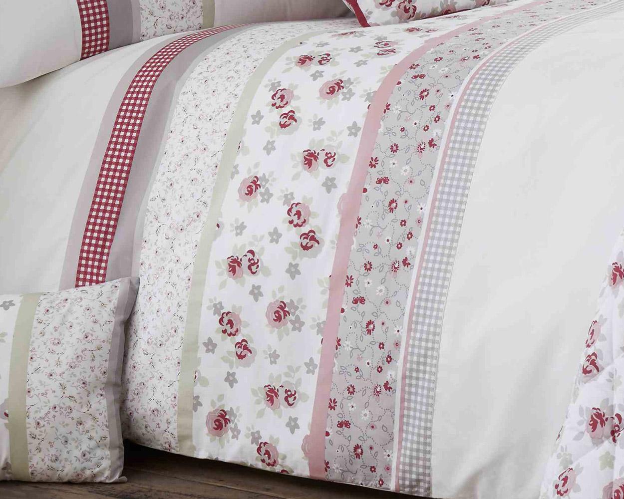Very Cotton Rich Garden Flower Design Duvet Set and Bedding Range in  TT81