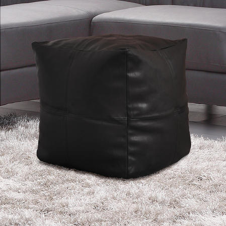 Faux Leather Lightweight Bean Bag Cube in Various Colours Thumbnail 2