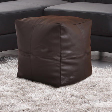 Faux Leather Lightweight Bean Bag Cube in Various Colours Thumbnail 3