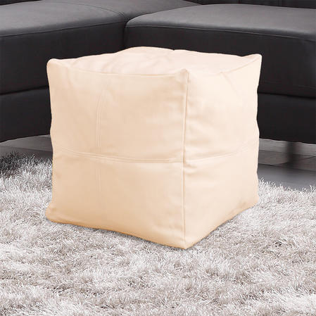 Faux Leather Lightweight Bean Bag Cube in Various Colours