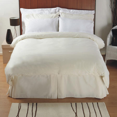 200 TC - Luxury Double Combed Cotton Flat Sheet in White
