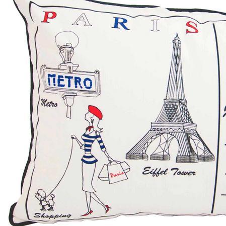Letter To Paris 60cm x 40 cm Boudoir Cushion With Bounce Back Inner Thumbnail 2