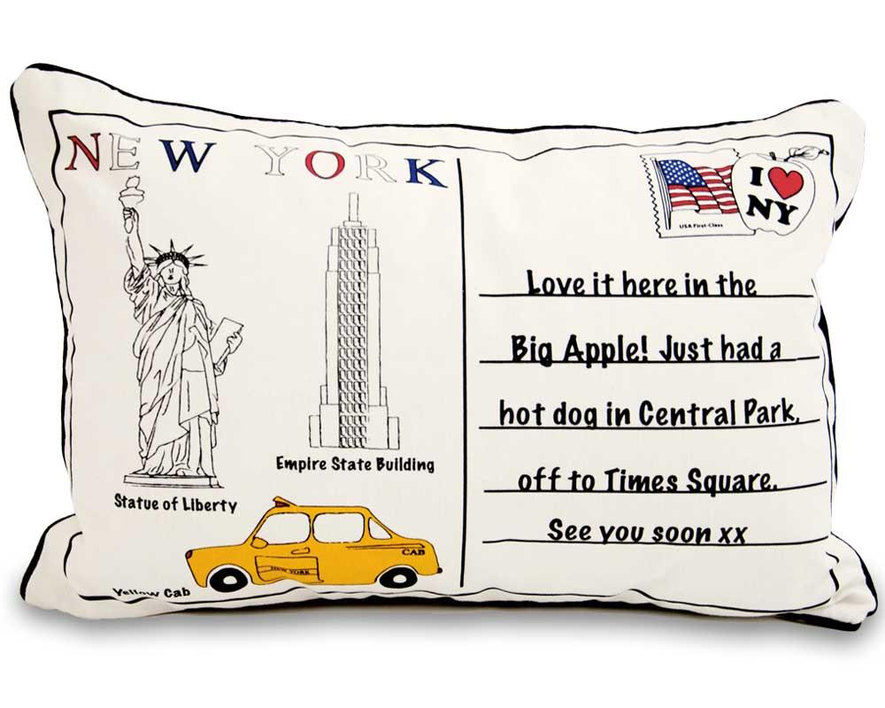 Letter To New York 60cm x 40 cm Boudoir Cushion With Bounce Back Inner