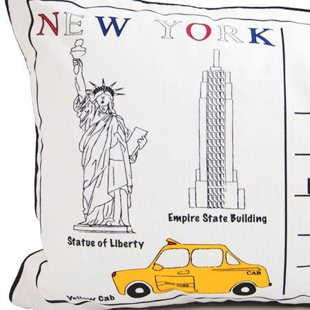 Letter To New York 60cm x 40 cm Boudoir Cushion With Bounce Back Inner Thumbnail 2