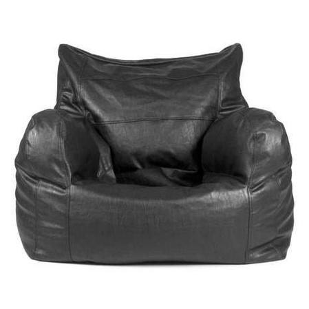 Faux Leather Ezee Black Bean Bag Seat
