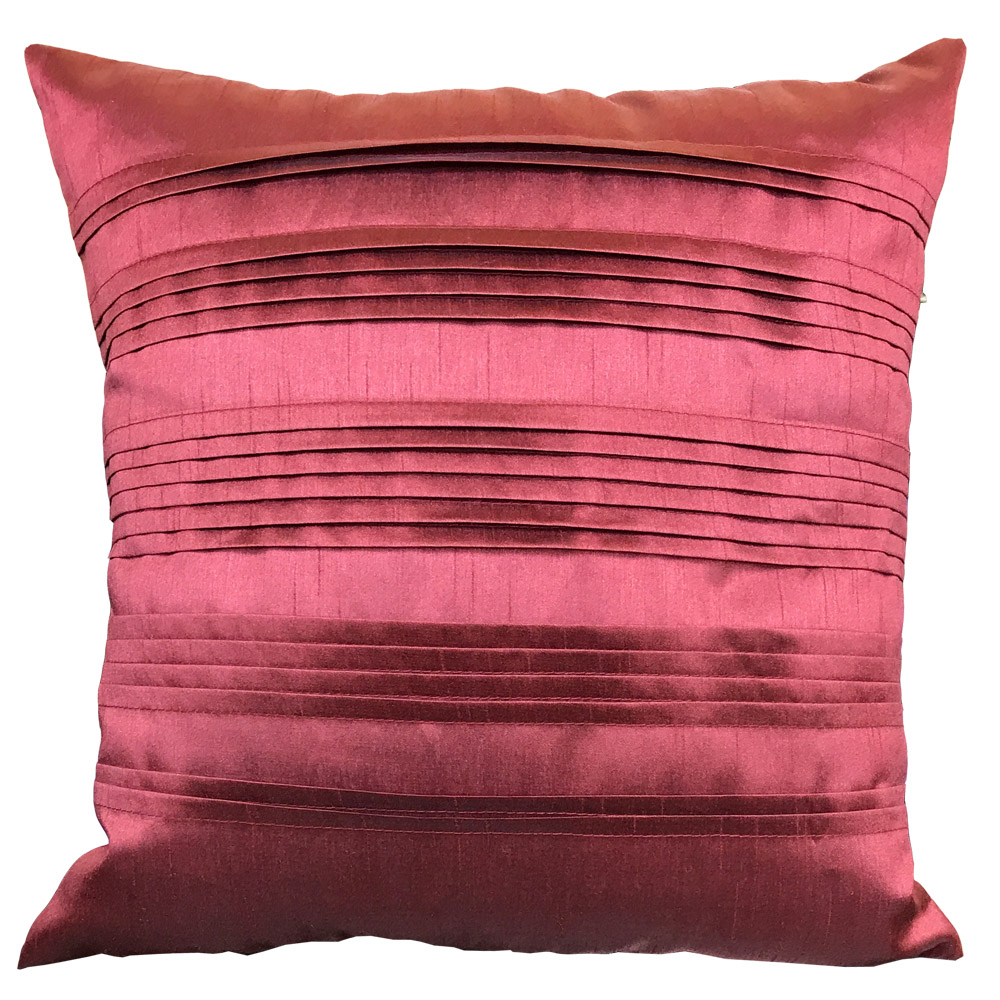 Pleated Pintuck Terracotta Cushion with Various Inner Options