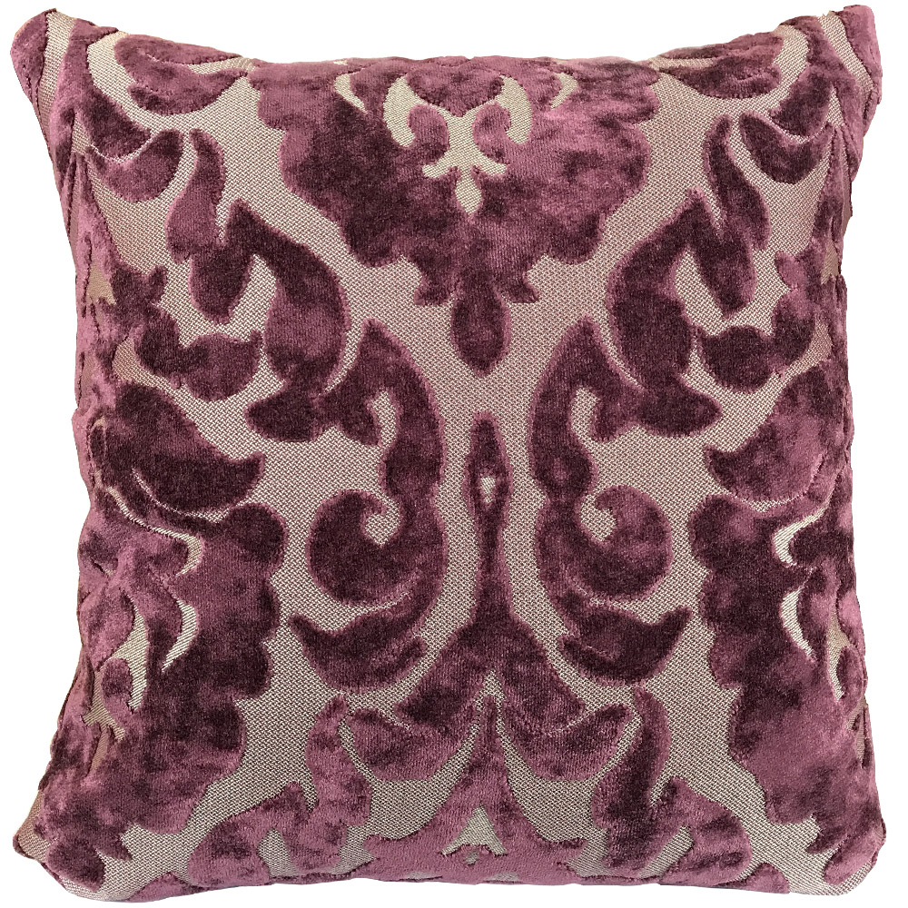 Purple Paisley Floral Cushion with Various Inner Options