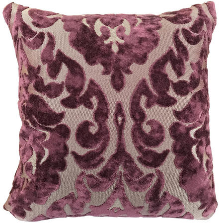 Purple Paisley Floral Cushion with Various Inner Options Thumbnail 1