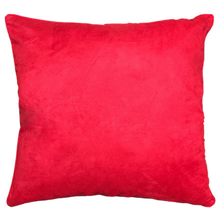 Red Suedette Large 65cm x 65cm Cushion Thumbnail 1