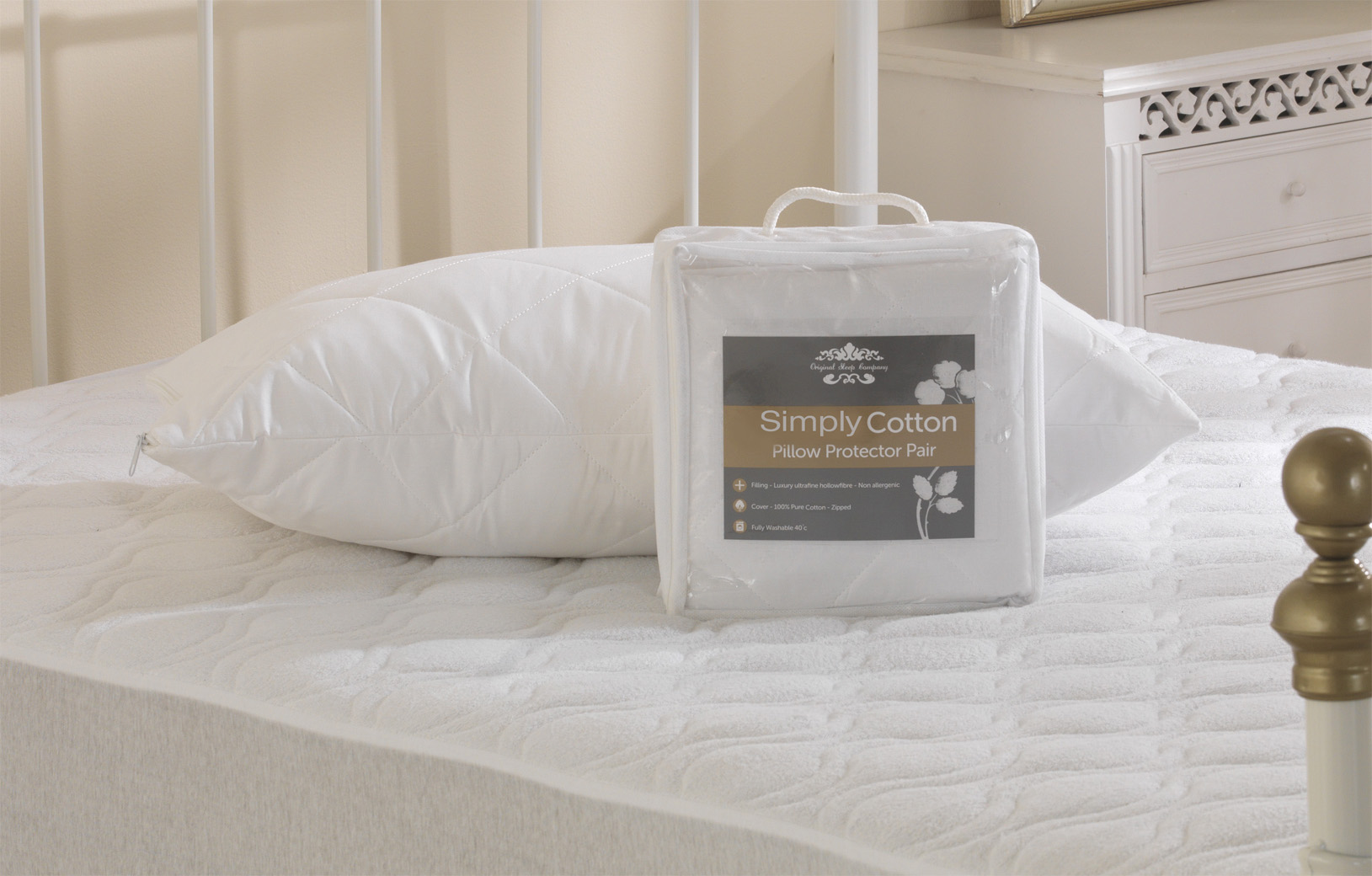 200TC Simply Cotton Pillow Protector Pair