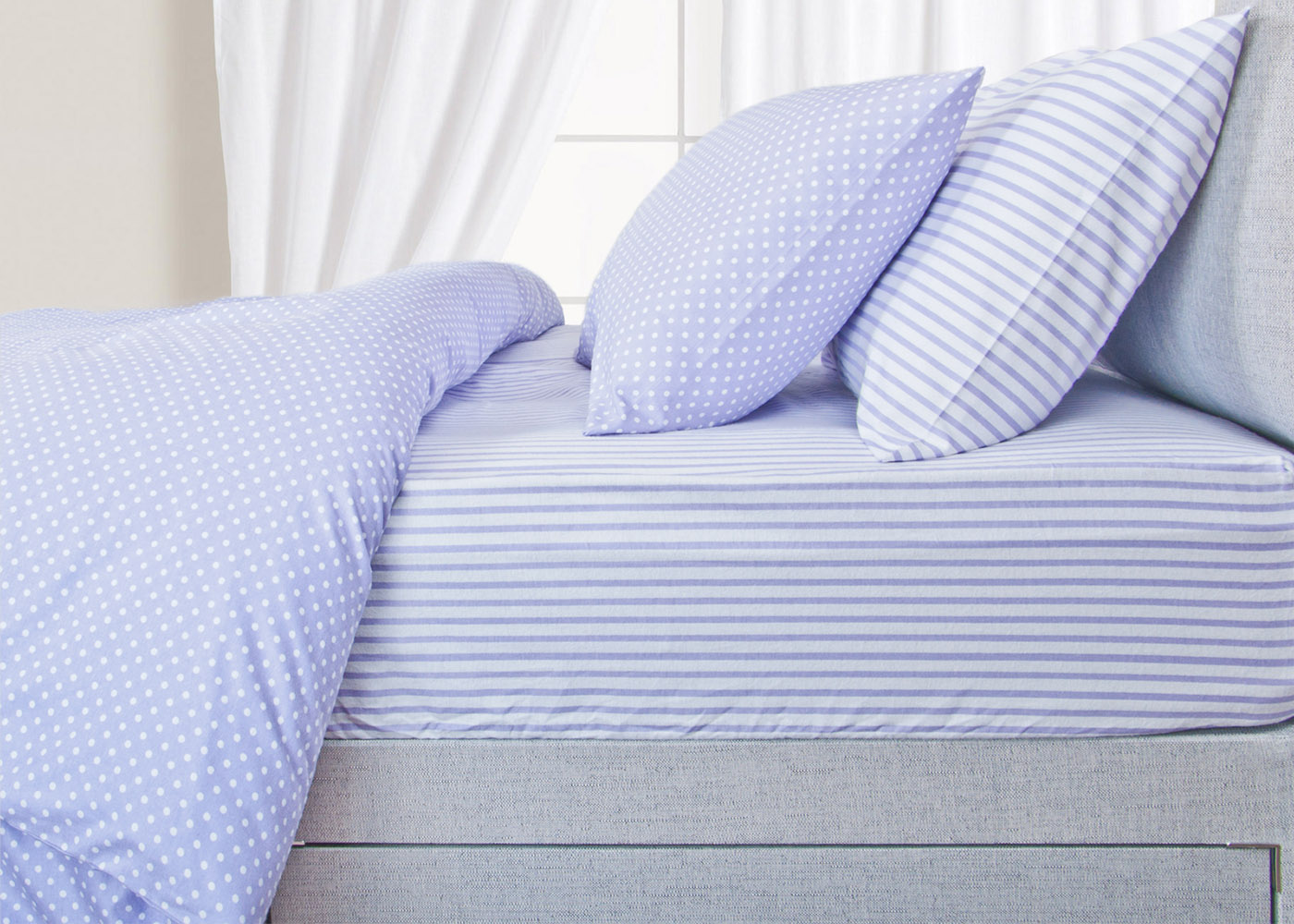 Helena Springfield 100% Brushed Cotton Bedding in Lilac and Blue