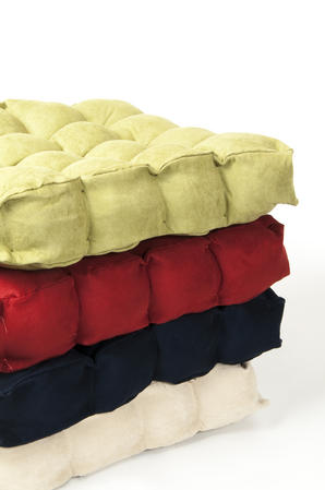 Faux Suede Booster Cushions in Various Colours Thumbnail 1