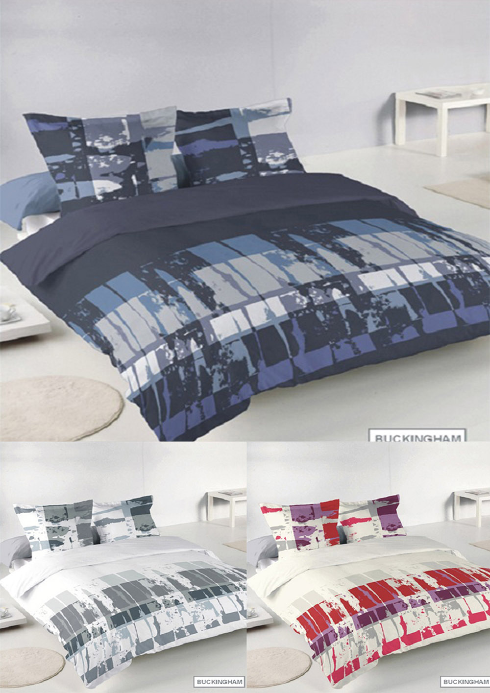Buckingham Blended Cotton Abstract Duvet Sets in Various Colours