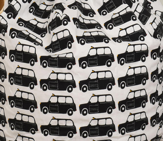 Black Taxi Print Large Bean Bag Thumbnail 2