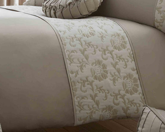 Contessa Collection Damask Floral Bedding Set in Gold  Thumbnail 2