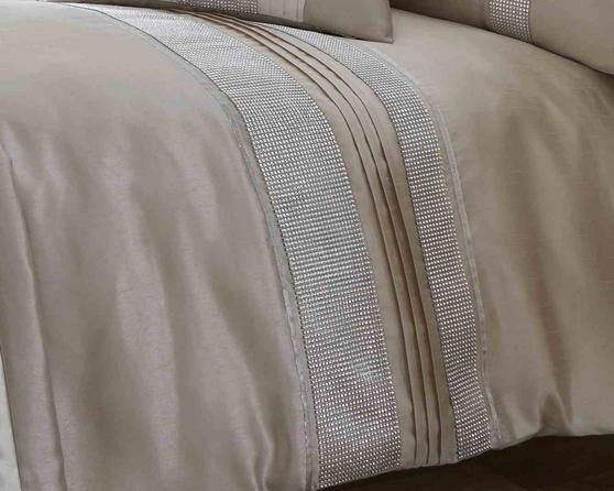 Dallas Collection Diamante Bedding Set in Latte Thumbnail 2