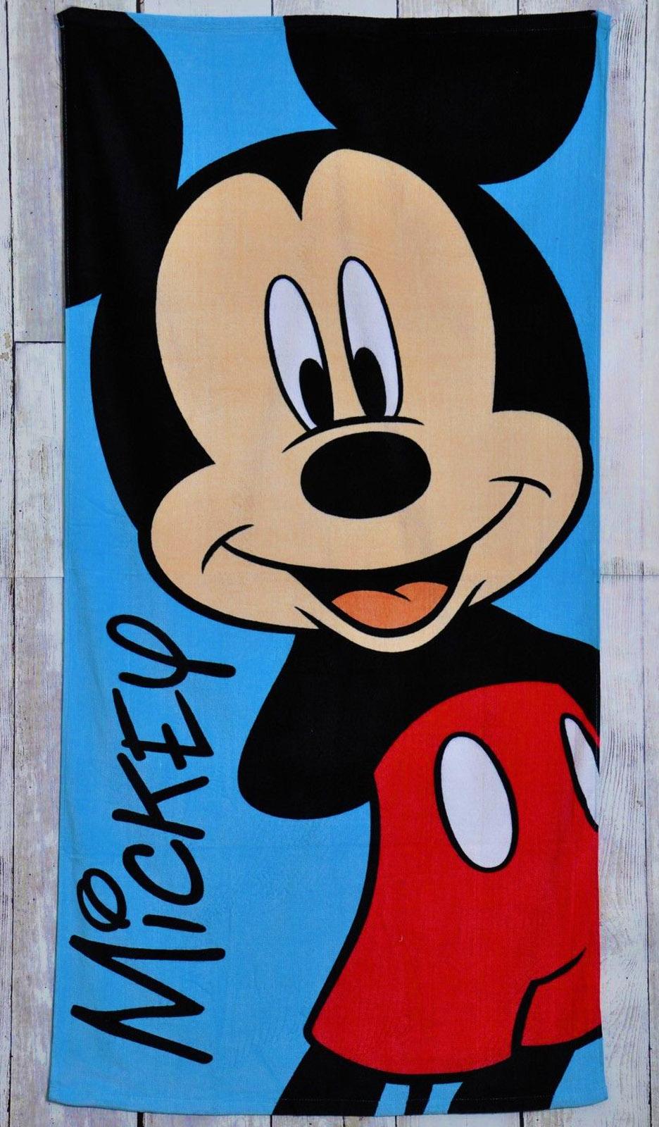 Character World Official Disney Mickey Mouse Beach /Bath Towel 70cm x 140cm