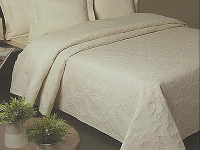 Florentina Cotton Rich Floral Design Bedspread in Cream