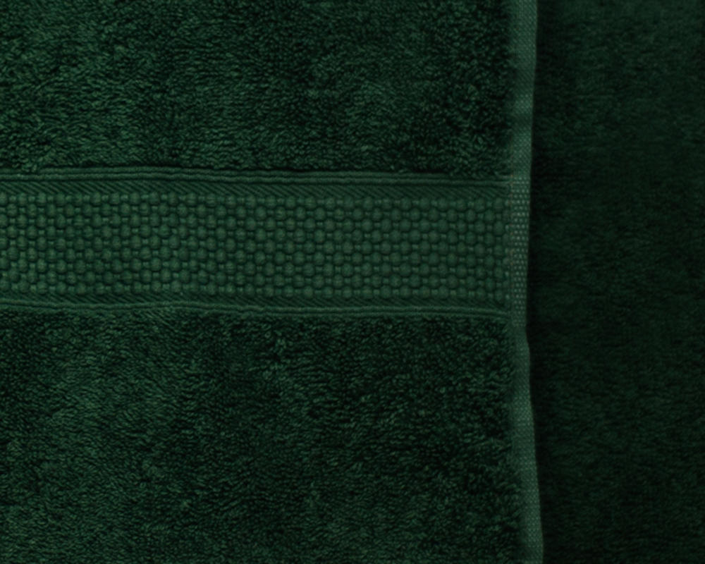 Combed Cotton Super Absorbent 500gsm Towels in Bottle Green