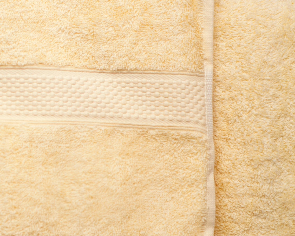 Combed Cotton Super Absorbent 500gsm Towels in Lemon