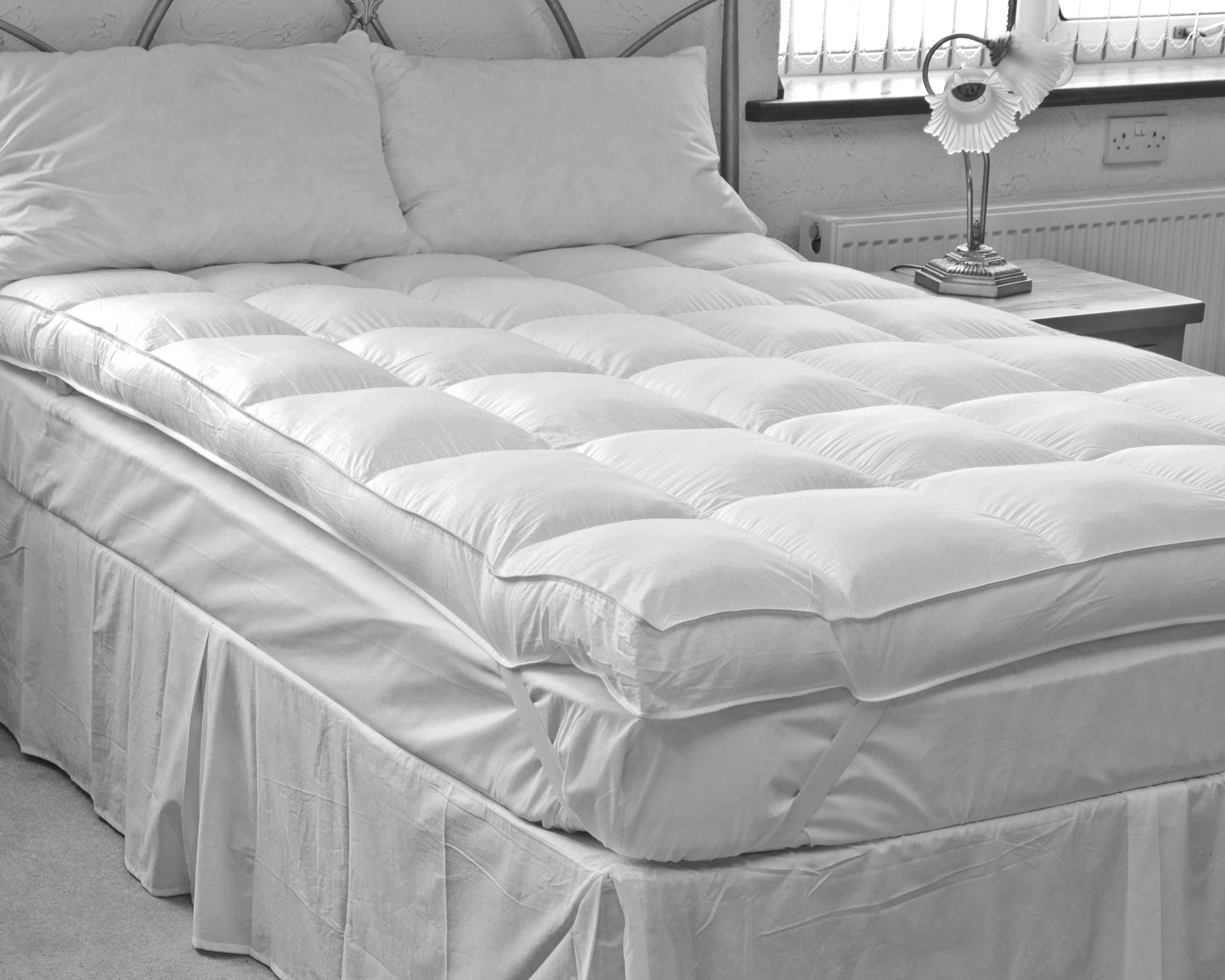 thick mattress topper. Hotel-Quality-Slight-Seconds-4-inch-Thick-Extra- Thick Mattress Topper A