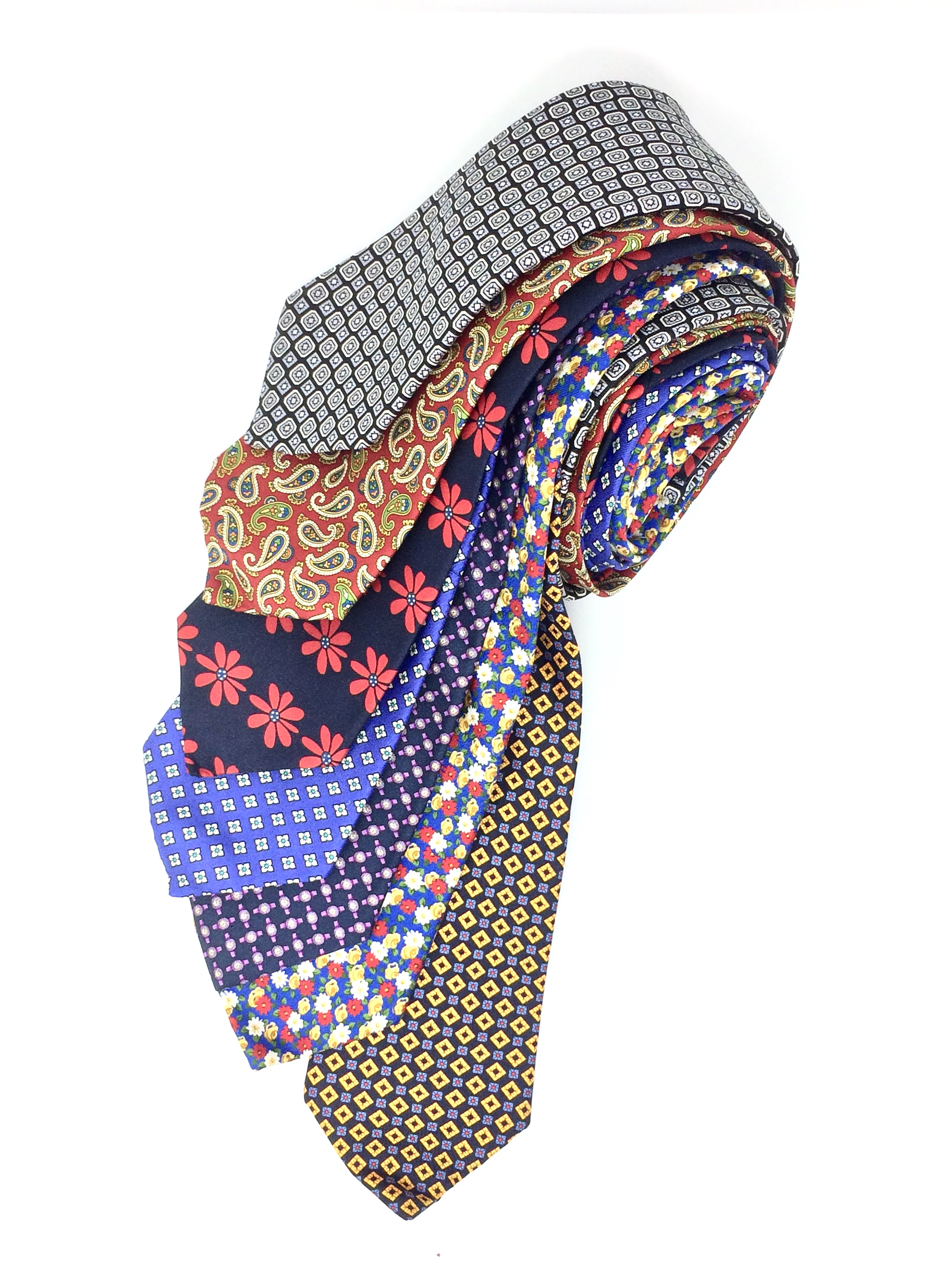 Cavenagh of London 7Piece 100% Pure Silk Ties Made in UK (320D)RRP£139.99