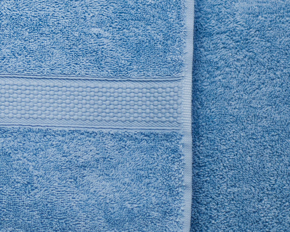 Combed Cotton Super Absorbent 500gsm Towels in Light Blue