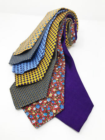 Cavenagh of London 7Piece 100% Pure Silk Ties Made in UK (514D)RRP£139.99