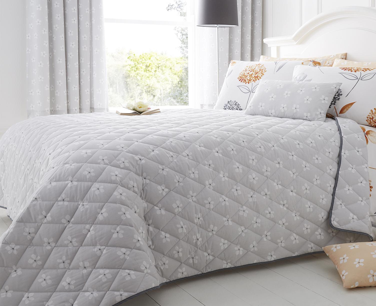 Cotton Rich Caroline Floral Design Accessories in Grey