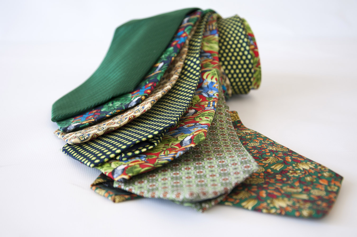 Cavenagh of London 7Piece 100% Pure Silk Ties Made in UK (420D)RRP£139.99
