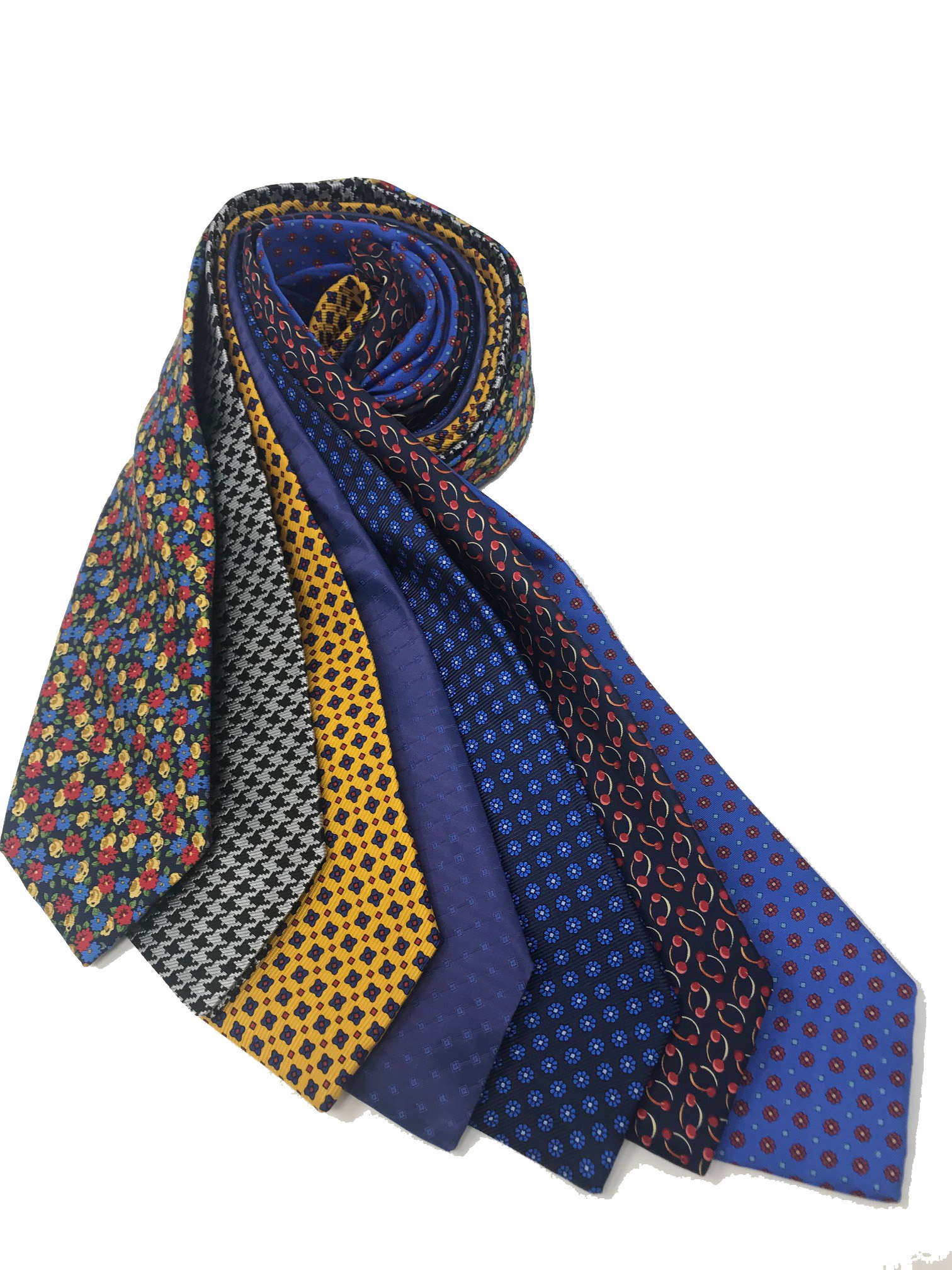 Cavenagh of London 7Piece 100% Pure Silk Ties Made in UK (717D)RRP£139.99
