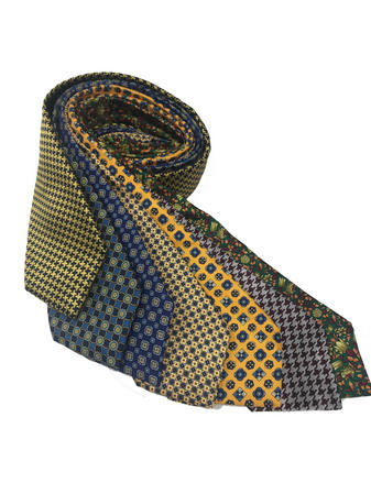 Cavenagh of London 7Piece 100% Pure Silk Ties Made in UK (705D)RRP£139.99 Thumbnail 1