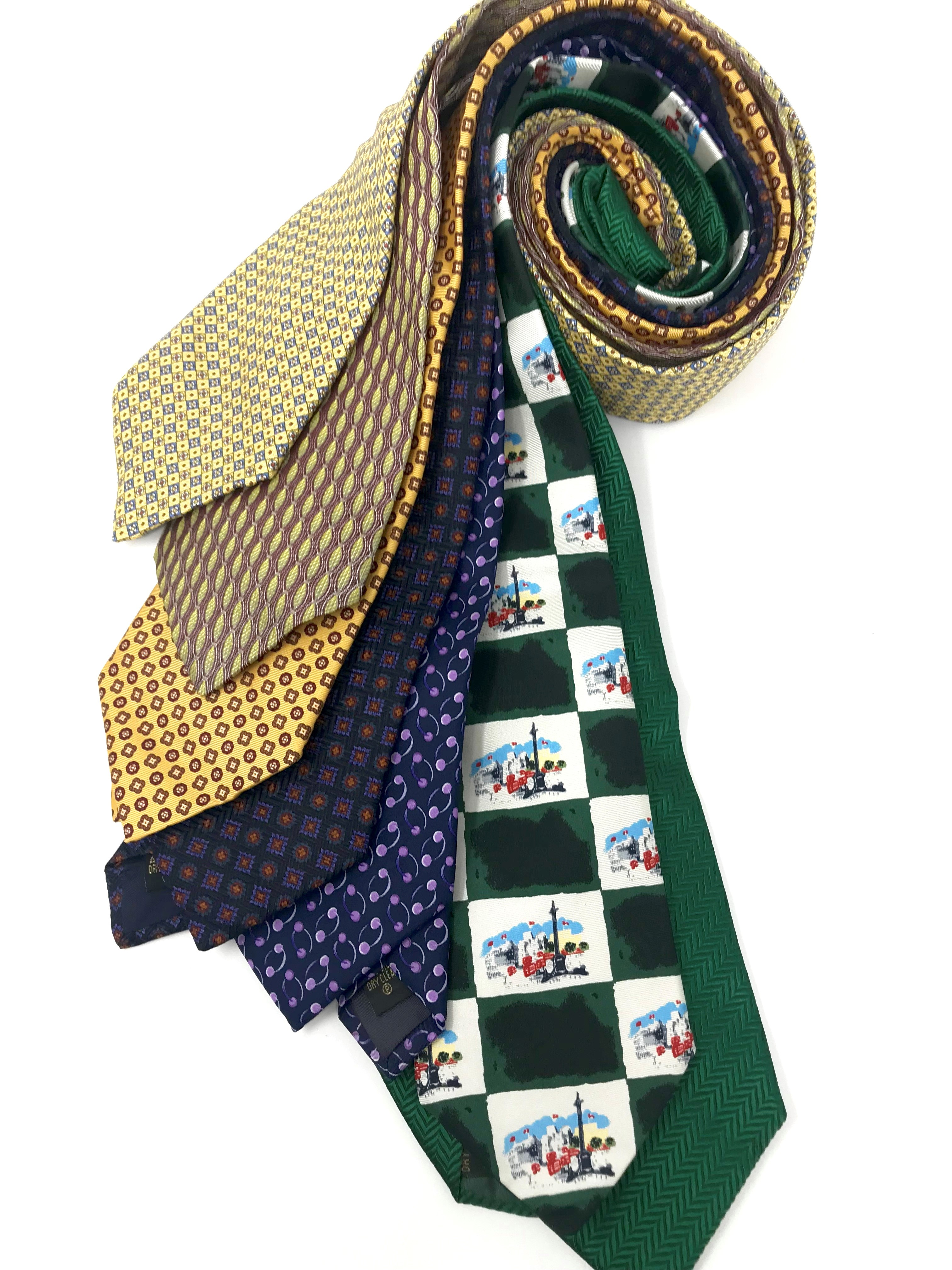 Cavenagh of London 7Piece 100% Pure Silk Ties Made in UK (711D)RRP£139.99