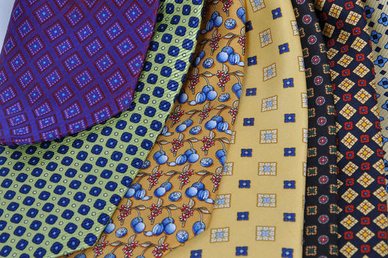 Cavenagh of London 7Piece 100% Pure Silk Ties Made in UK (615D)RRP£139.99 Thumbnail 2
