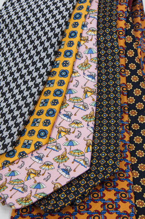 Cavenagh of London 7Piece 100% Pure Silk Ties Made in UK (501D)RRP£139.99 Thumbnail 2