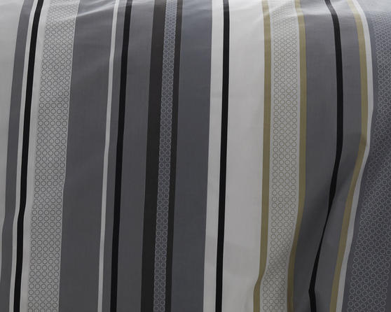 Ashcroft Stripe Collection Bedding Set in Grey Thumbnail 2