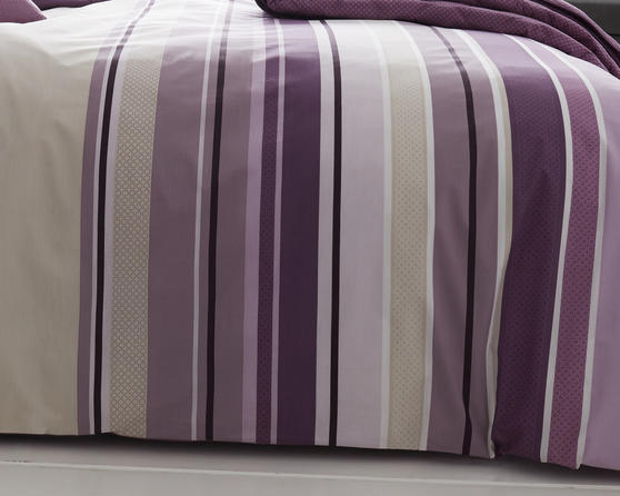 Ashcroft Stripe Collection Bedding Set in Mauve Thumbnail 2