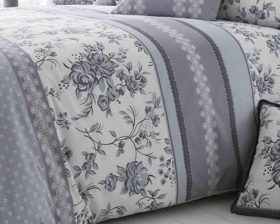 Pippin Collection Floral Design Bedding Range in Grey Thumbnail 1