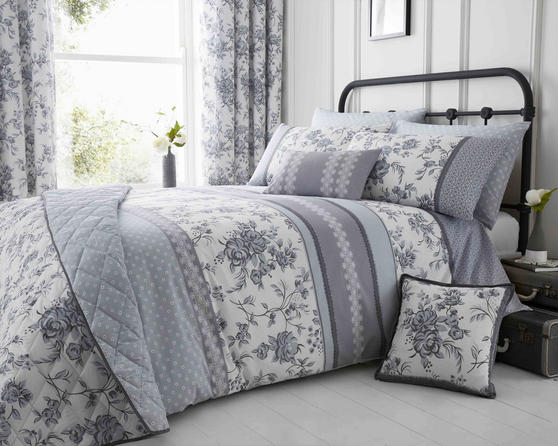 Pippin Collection Floral Design Bedding Range in Grey Thumbnail 2