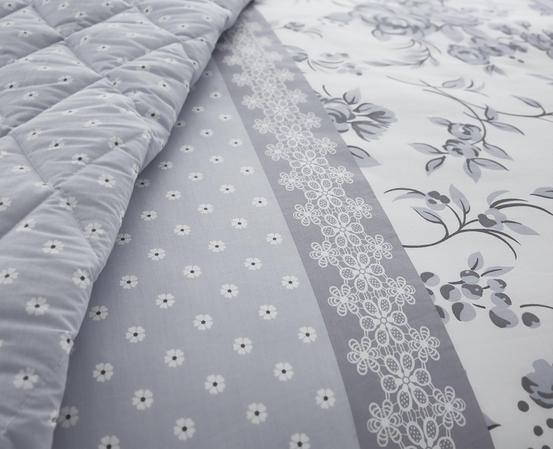 Pippin Collection Floral Design Bedding Range in Grey Thumbnail 4