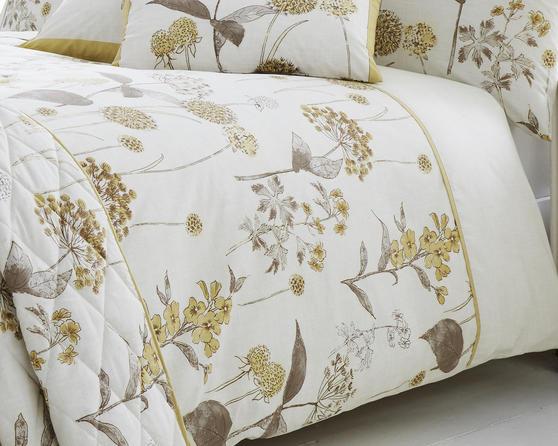 Shabby Botanical Floral Designed Bedding Range in Natural Thumbnail 1