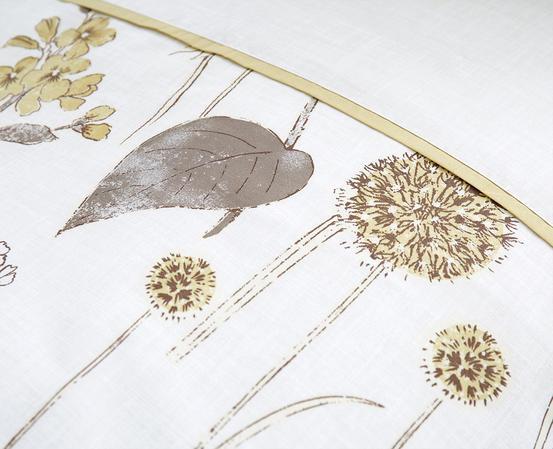 Shabby Botanical Floral Designed Bedding Range in Natural Thumbnail 3