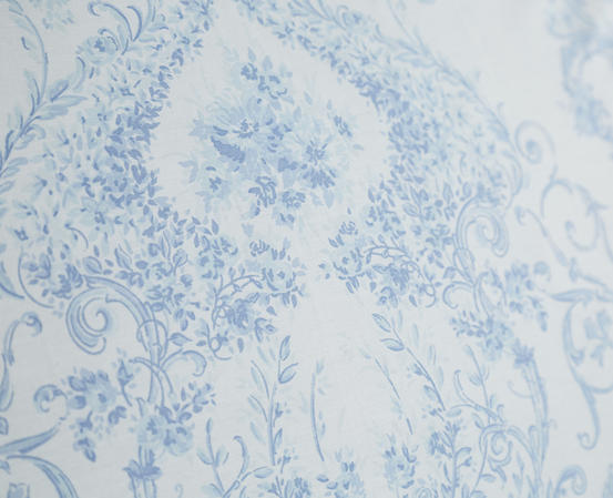 Toile Floral Damask Bedding Range in Blue Thumbnail 3