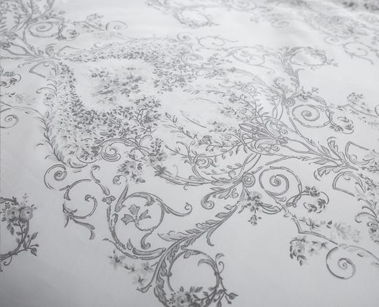 Toile Floral Damask Bedding Range in Grey Thumbnail 3