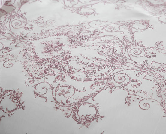 Toile Floral Damask Bedding Range in Pink Thumbnail 4