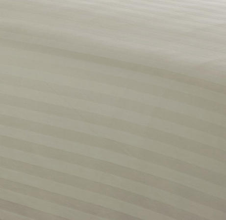 Satin Stripe 200TC Duvet Sets in Cream & White Thumbnail 3