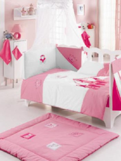 Nursery Baby Bed Bedding Collection - Princess Pink